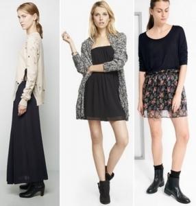 С чем носить шифоновую юбку осенью? Обзор с фото