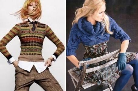 С чем носить короткий свитер? Обзор с фото