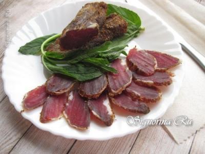 Бастурма из свинины в домашних условиях: рецепт с фото