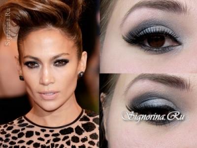 Как сделать макияж для карих глаз от Дженифер Лопес: пошаговое с фото