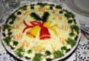 Салаты на Новый Год.  Салат Мимоза с консервами пошаговый рецепт с фото